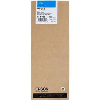 Original EPSON T636200 INK / INKJET Cartridge Cyan