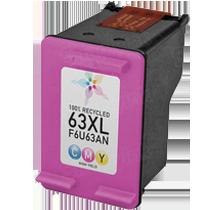HP F6U63AN (HP 63XL) High Yield INK / INKJET Cartridge Tri-Color