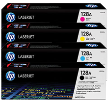 Brand New Original HP 128A Laser Toner Cartridge Set Black Cyan Yellow Magenta