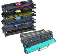 HP 1500 Laser Toner Cartridge Set / DRUM UNIT Black Cyan Yellow Magenta High Yield