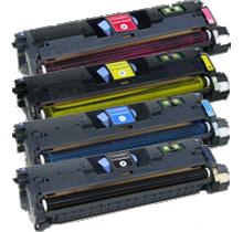 HP 1500 Laser Toner Cartridge Set Black Cyan Yellow Magenta High Yield