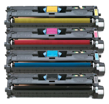 HP 2550 Laser Toner Cartridge Set Black Cyan Yellow Magenta High Yield
