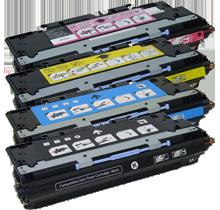 HP 3500 Laser Toner Cartridge Set Black Cyan Yellow Magenta