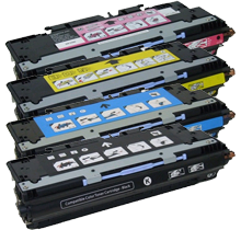 HP 3800 Laser Toner Cartridge Set Black Cyan Yellow Magenta