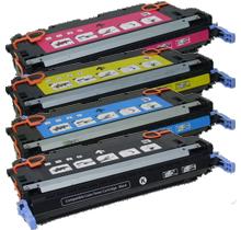 HP 4700 Laser Toner Cartridge Set Black Cyan Yellow Magenta