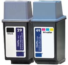 HP 51629A / 51649A (29A / 49A) INK / INKJET Cartridge Combo Pack Black Tri-Color