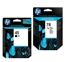 ~Brand New Original HP 51645A / C6578A (45A / 78A) INK / INKJET Cartridge Combo Pack Black Tri-Color