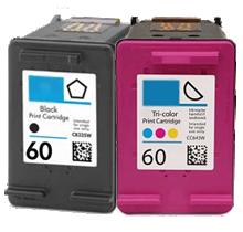 HP CC640WN / CC643WN #60 INK / INKJET Cartridge Combo Pack Black Tri-Color