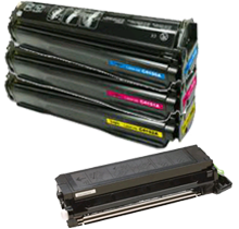 HP 8500 Laser Toner Cartridge Set Black Cyan Yellow Magenta