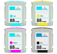 HP 88XL INK / INKJET Cartridge Set Black Cyan Yellow Magenta High Yield