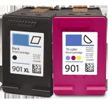 HP CC654AN / CC656AN (901XL / 901) High Yield Black INK / INKJET Cartridge Combo Pack Black Tri-Color