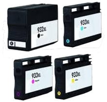 Brand New Compatible HP 932XL / 933XL INK / INKJET Cartridge Set High Yield Black Cyan Yellow Magenta