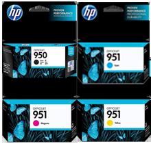 Brand New Original HP 950 / 951 INK/INKJET Cartridge Set Black Cyan Yellow Magenta