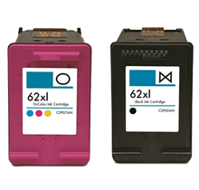 HP 62XL INK / INKJET Cartridge High Yield COMBO PACK