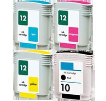 HP 12 INK / INKJET Cartridge Set Black Cyan Yellow Magenta