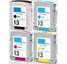 HP 13 INK / INKJET Cartridge Set Black Cyan Magenta Yellow