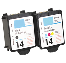 HP C5010A / C5011A (14 / 14) INK / INKJET Cartridge Combo Pack Black Tri-Color