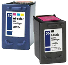 HP C6656A / C6657A (56 / 57) INK / INKJET Cartridge Combo Pack Black Tri-Color