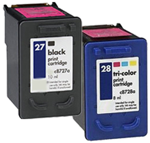 HP C8727A / C8728A (27 / 28) INK / INKJET Cartridge Combo Pack Black Tri-Color