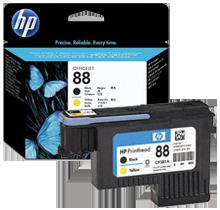 ~Brand New Original HP C9381A HP88 Printhead Black Yellow