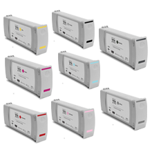 HP 771 INK / INKJET Latex Cartridge Set Matte Black Magenta Yellow Red Light Cyan Light Magenta Photo Black Light Gray