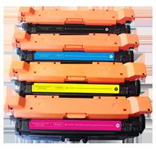 HP CP4020 / 4025 Laser Toner Cartridge Set Black Cyan Magenta Yellow
