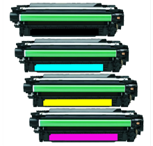 HP CP5525 Laser Toner Cartridge Set Black Cyan Yellow Magenta