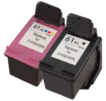 HP CH563WN / CH564WN (HP 61XL) INK / INKJET Cartridge Combo Pack Black Tri-Color High Yield