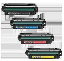 HP CM4540 Laser Toner Cartridge Set Black Cyan Yellow Magenta