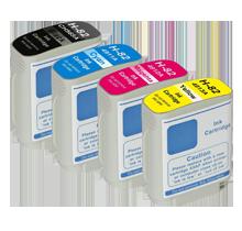 HP 82 INK / INKJET Cartridge Set Black Cyan Yellow Magenta