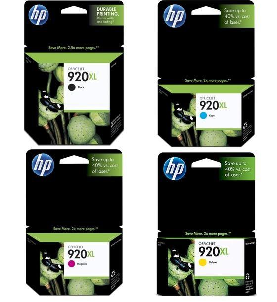 ~Brand New Original HP 920XL INK / INKJET Set Black Cyan Yellow Magenta