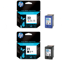 HP C9351AN / C9352AN (21 / 22) INK / INKJET Cartridge Combo Pack Black Tri-Color