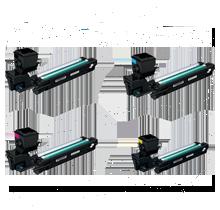 KONICA / MINOLTA 3730DN / 3730 High Yield Laser Toner Cartridge Set Black Cyan Yellow Magenta