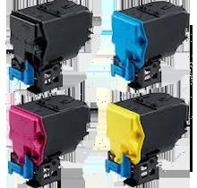 KONICA / MINOLTA 4750 / 4750DN High Yield Laser Toner Cartridge Set Black Cyan Yellow Magenta