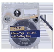 """EPSON LC-4HKK5 Ribbon Tape Gold on Navy 12MM / 1.5"""" - 5M / 16FT"""