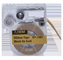"""EPSON LC-4KBK5 Ribbon Tape Black on Gold 12MM / 1.5"""" - 5M / 16FT"""