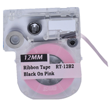 "EPSON LC-4PBK5 Ribbon Tape Black on Pink 12MM / 1.5"" - 5M / 16FT"