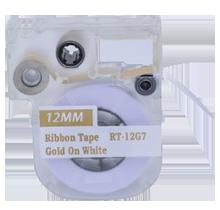 """EPSON LC-4WKK5 Ribbon Tape Gold on White 12MM / 1.5"""" - 5M / 16FT"""