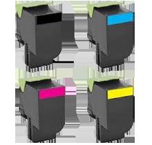 LEXMARK 701 High Yield Laser Toner Cartridge Set Black Cyan Magenta Yellow