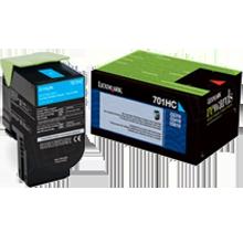~Brand New Original LEXMARK 70C1HC0 High Yield Laser Toner Cartridge Cyan