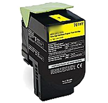 LEXMARK 70C1HY0 High Yield Laser Toner Cartridge Yellow