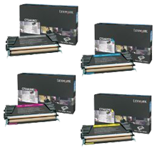 ~Brand New Original LEXMARK C736 Laser Toner Cartridge Set Black Cyan Magenta Yellow