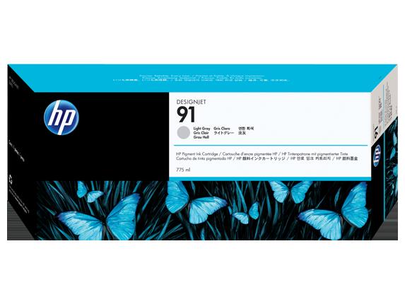 ~Brand New Original OEM HP C9466 (HP91) INK / INKJET Cartridge Light Grey