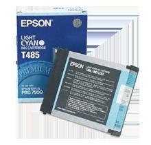 Brand New Original EPSON T485011 Ink / Inkjet Cartridge Light Cyan