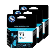 Brand New Original HP CZ134A (HP 711) INK / INKJET Cartridge High Yield Cyan (3 Pack)