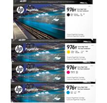 ~Brand New Original HP 976Y Extra High Yield INK / INKJET Cartridge Set Black Cyan Magenta Yellow