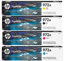 ~Brand New Original HP 972A INK / INKJET Cartridge Set Black Cyan Magenta Yellow