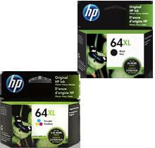 ~Brand New Original OEM-HP X4D92AN (64XL) INK / INKJET Cartridge Combo Black Tri-Color