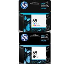 ~Brand New OEM Original HP N9K01AN / N9K02AN (#65) INK / INKJET Cartridge Combo Pack Black Tri-Color