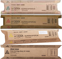 ~Brand New Original RICOH OEM-SPC430 / SPC431 Laser Toner Cartridge Set Black Cyan Magenta Yellow